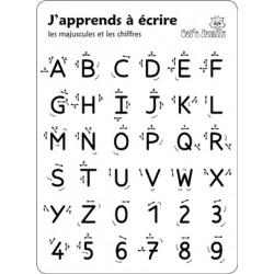 Tablette J'apprends à écrire - Majuscules et chiffres