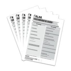 BLCR - Livret individuel de cotation (Lot de 5)