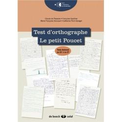 Test d'orthographe - Le Petit Poucet
