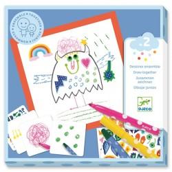 Coloriage et Stickers les petits monstres