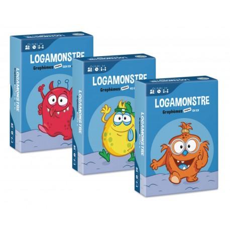Logamonstre - Ensemble 1 : Logatomes de deux syllabes avec graphèmes simples