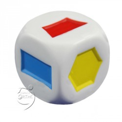 Dé - Formes géométriques colorées