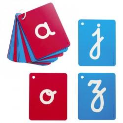 Lettres cursives rugueuses