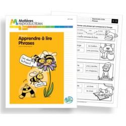 Français 1 - Apprendre à lire des phrases - Fiches reproductibles