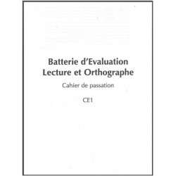 BELO - Cahier de passation CE1 - Pack 10 cahiers