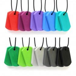 Ark collier à mastiquer modèle Chew tags (2 pendentifs)