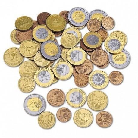 100 pièces de monnaie en Euro
