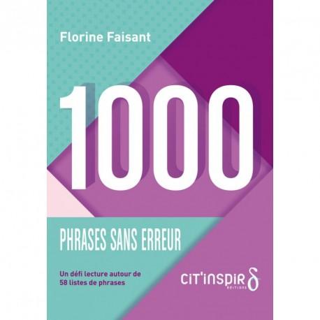 1000 phrases sans erreur