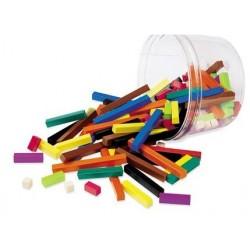 Réglettes Cuisenaire plastique - 155 pièces