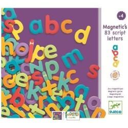 83 lettres script magnétiques en bois