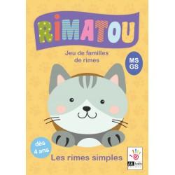 RIMATOU - Jeu de familles de rimes - Les rimes simples