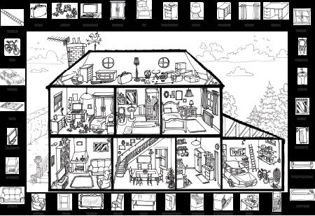 Poster vocabulaire : La maison