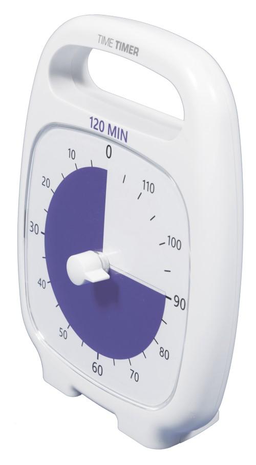 Time Timer Plus 120 min Blanc