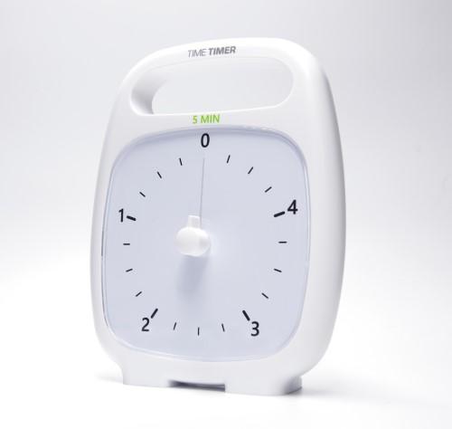 Time Timer Plus 5 min Blanc