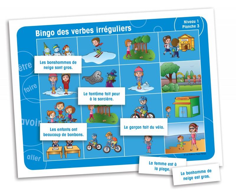 Bingo des verbes irréguliers