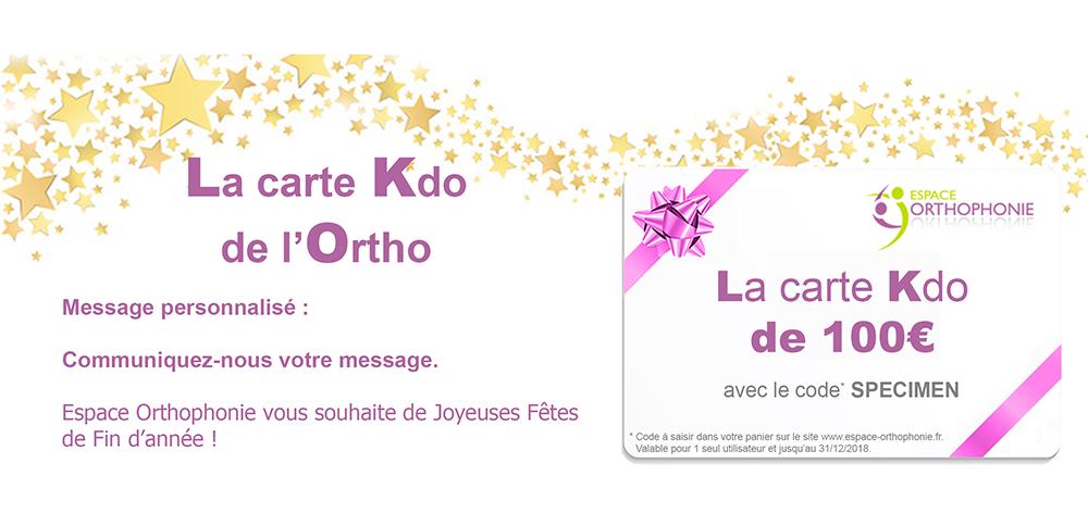 Carte Kdo de 100 euros