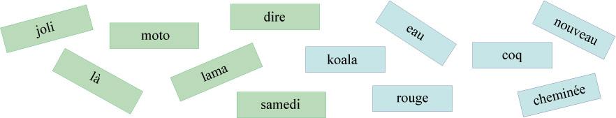 Le loto des mots - Niveau 1 et 2